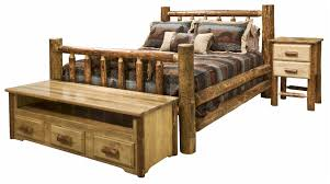 Log Cabin Furniture Bedroom Picture Of Bear Rustic Bedroom Furniture Log Beds Log