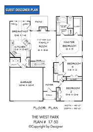 First Floor Bedroom House Plans West Park House Plan House Plans By Garrell Associates Inc