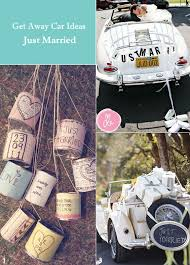 just a car for the just married and other unique wedding getaway car ideas vintage