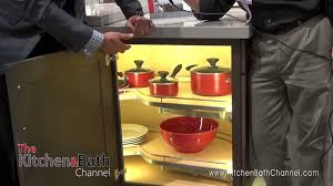 kbis 2014 hafele u0027s lighted blind corner cabinet storage solutions