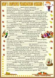 1 free esl thanksgiving past simple worksheets
