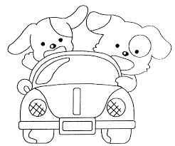 dessin de voiture à colorier