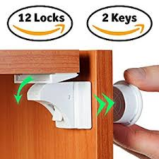 amazon com baby proof magnetic cabinet locks for child safety