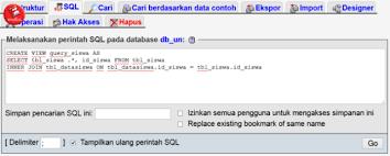 membuat query tabel cara membuat query di phpmyadmin dengan 2 tabel