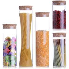aliexpress com buy 5 pcs set transparent glass jars seal jars