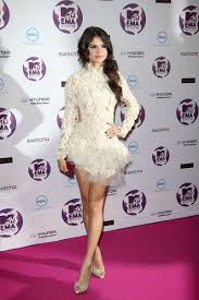 selena gomez white sweet 16 short cocktail party gown mtv europe
