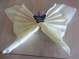 Pliage De Serviette En Papier 2 Couleurs Papillon by Pliage Serviette Pour Enfant