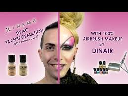 Nina Flowers Drag Queen - extreme drag transformation with 100 dinair airbrush makeup