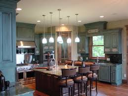 pictures of antiqued kitchen cabinets blue distressed kitchen cabinetry