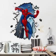 ay8003 new u0026 giant superman spiderman 3d wall sticker for kids
