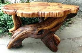 wood stump coffee table tree end table expominera2017 com