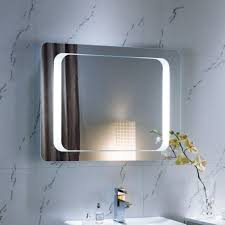 modern bathroom mirror idea with elegant design over marble