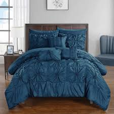 chic home 10 piece grantfield bed in a bag navy comforter set by