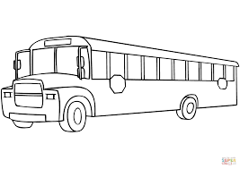 bus coloring page free printable coloring pages