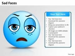 sad face powerpoint templates slides and graphics