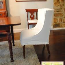 White Slipcover Dining Chair Furniture Decor Your Chair Using Chair Covers Somvoz