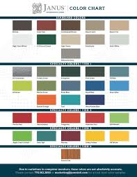 Janus Overhead Doors Color Chart Janus International