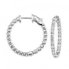 inside out diamond hoop earrings inside out diamond hoop earrings 100 total weight
