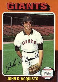 John Bench Centerfield Maz Former Italian American Pitcher John D U0027aquisto
