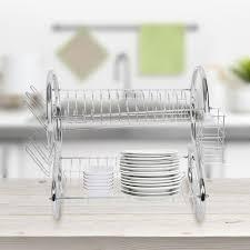 sink racks kitchen accessories 2 tiers dish drying rack home sink rack kitchen accessories storage