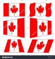 6 canadian flag designs vector stock vector 267597 shutterstock