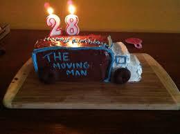 moving truck birthday cake