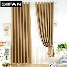 Brown Blackout Curtains Brown Curtains For Bedroom Modern Style Plain Solid Color Faux