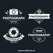 vintage design logotypes of photography in vintage design vector free