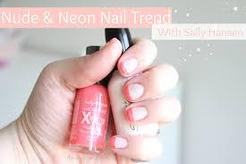 u0026 neon nails with sally hansen sarah rae vargas