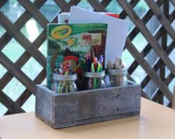 centerpiece box made of rustic reclaimed wood planter box