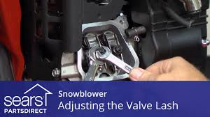 adjusting the valve lash on a snowblower youtube