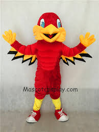 high quality realistic new red mighty eagle mascot costume