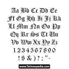 traditional knuckle tattoo font more information