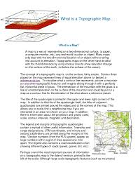 What Is A Map Solution What Is A Topographic Map Studypool