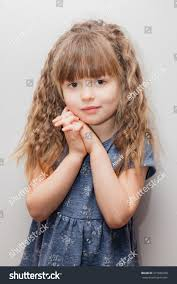 little long curly hair bangs stock photo 377688328 shutterstock