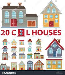 cute houses cute house houses clipart set clip art set of houses bright