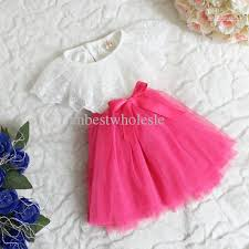 2015 baby tulle lace dresses bowknot princess