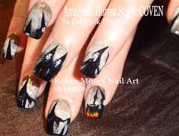 robin moses nail art american horror story coven nails