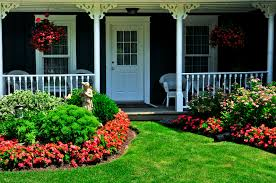 home entrance flower bed ideas front of house cheap home entrance loversiq
