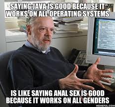Anal Sex Meme - dennis ritchie about java programmerhumor