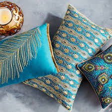 Peacock Pillow Pier One by Allover Peacock Feathers Pillow Pier 1 Imports