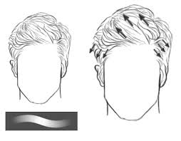 hhort haircut sketches for man how to paint realistic hair in adobe photoshop short hair beards