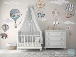 xl girl set 6 hot air balloon animals 5 clouds nursery zoom