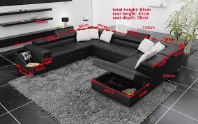 canape avec rangement canapé panoramique cuir palermo canapé avec rangement 7 places