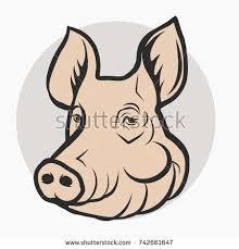 pig head pork meat farm logo stock vector 516407104 shutterstock