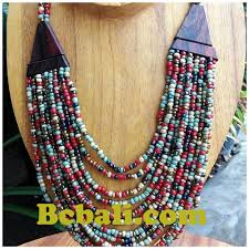 ethnic necklace design images Mixed color glass bead choker ethnic design necklaces bali mixed jpg