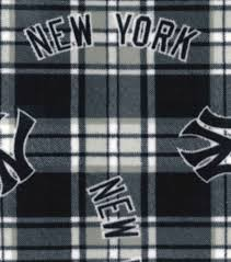 licensed plaid fleece new york yankees joann