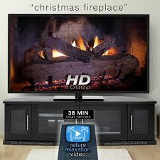 crackling fireplace