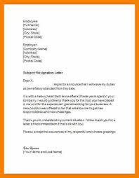 100 10 resignation letter sample 5 resignation letter email