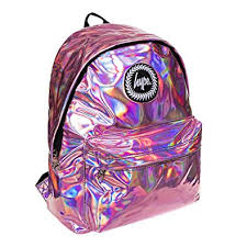 holographic bags hype holographic backpack rucksack bag ideal school bags
